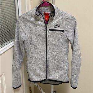 Nike Heather Gray Jacket (XS) with black trim